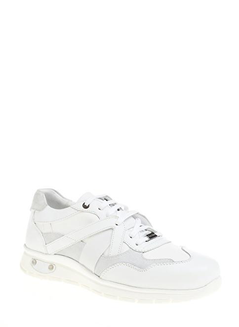 D by Divarese %100 Deri Casual Ayakkabı Beyaz